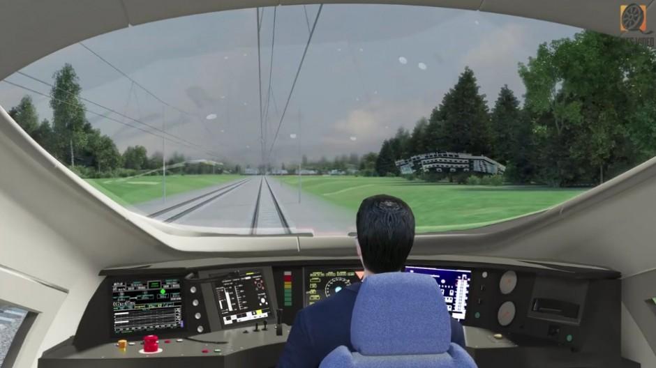3 d визуализация от лица водителя поезда ржд