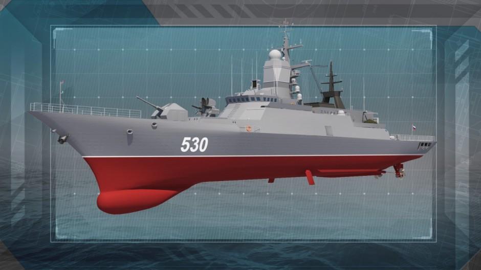 Кадр из презентационного ролика на выставку Военно морской салон 2015