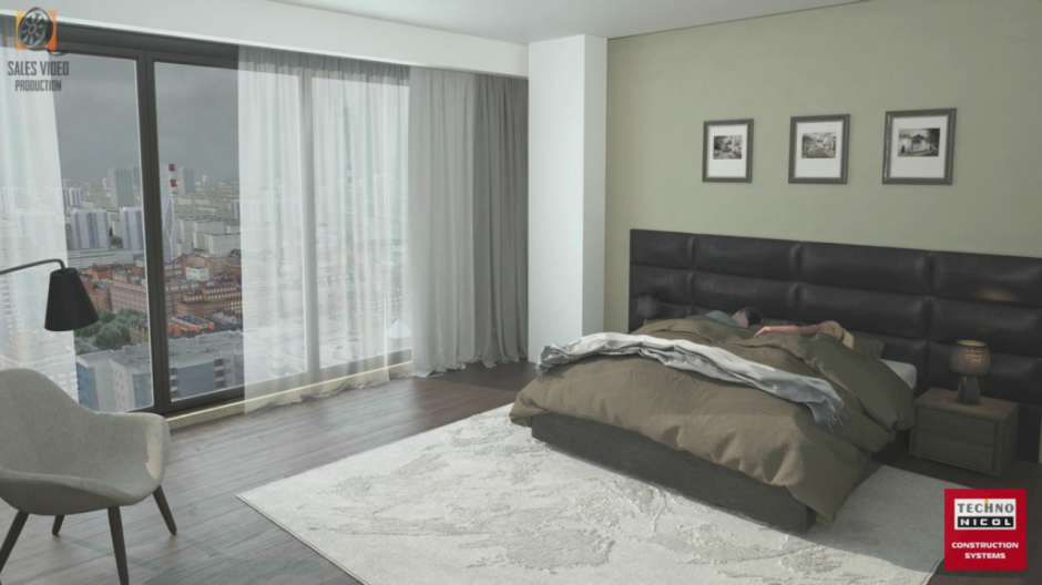 Видеоролик на заказ пара спит в квартире