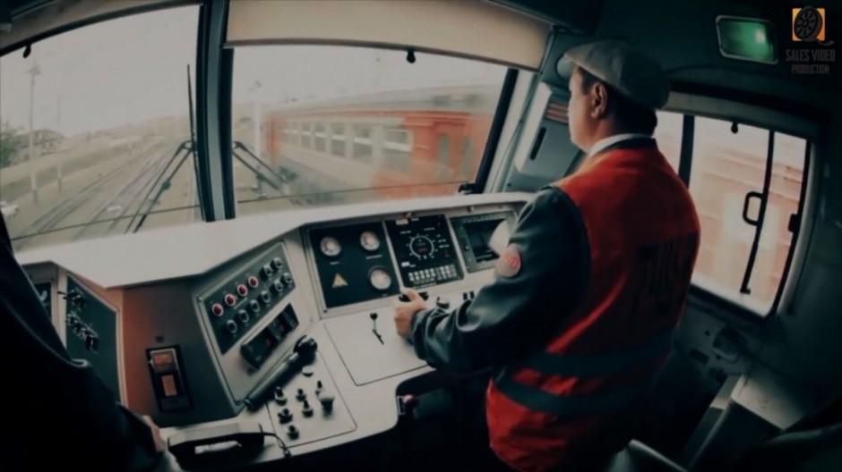 Видеоролик о компании кабина машиниста поезда